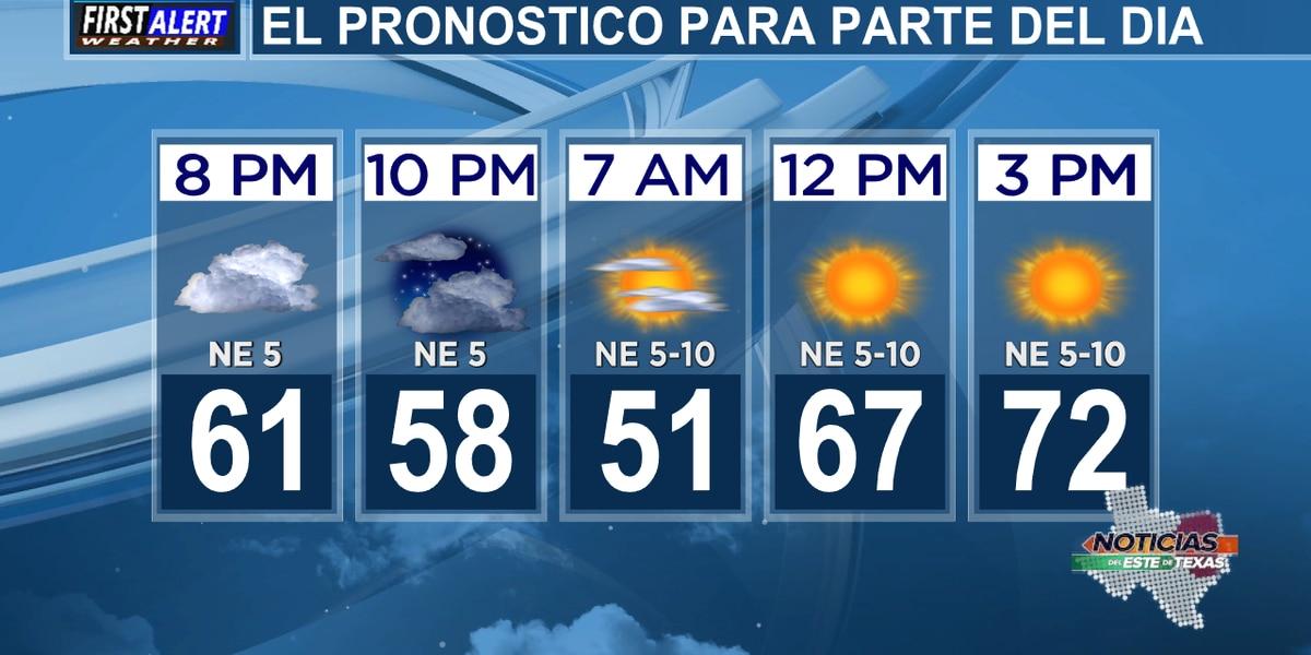 """Pronóstico del miércoles: Después de unos días de """"demasiada lluvia"""", esperamos unos días de sol."""
