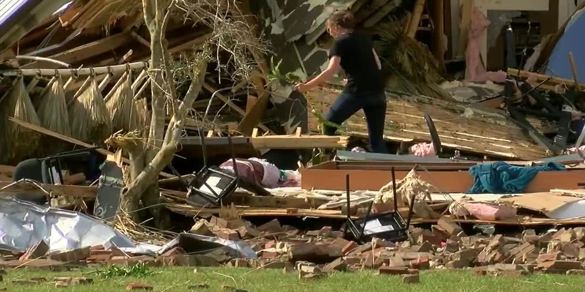 RAW VIDEO: Storm damage from Caddo Mounds area