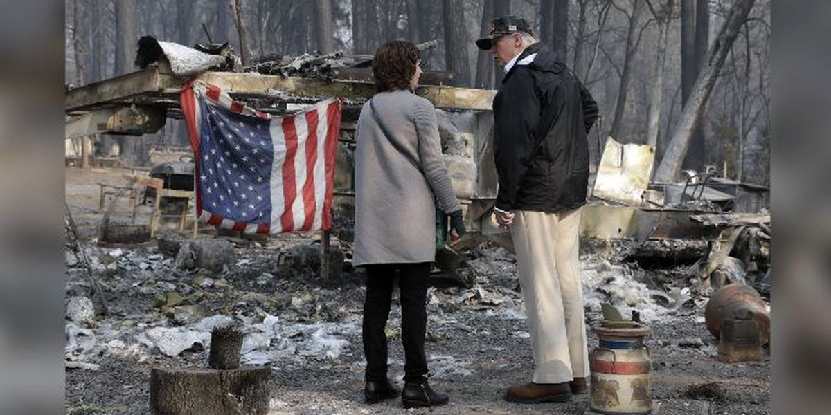 'We've never seen anything like this': Trump tours wildfire devastation, pledges aid