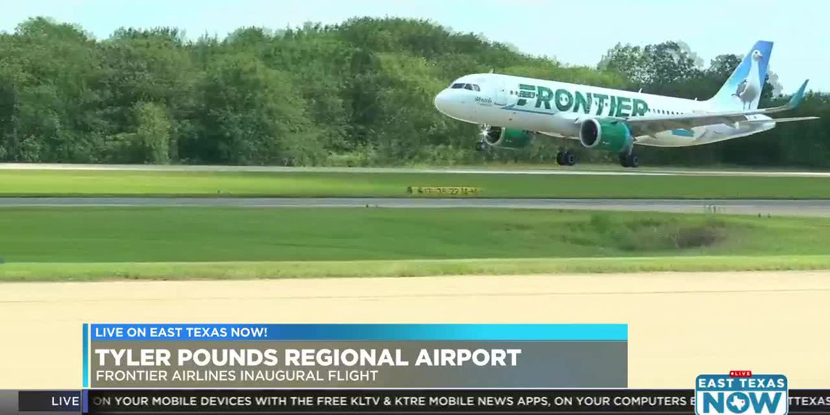 VIDEO: Tyler Pounds Regional Airport mark inaugurals Frontier Airlines flight