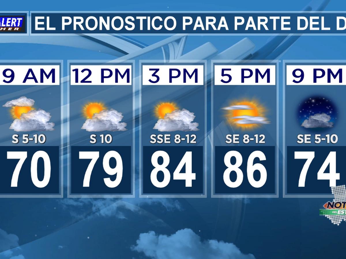 Pronóstico del miercoles: Niebla densa y dispersa temprano esta mañana, luego parcialmente nublado y cálido esta tarde.