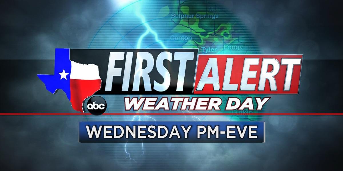 Alerta de tornado emitida para partes del este de Texas hasta las 8 pm