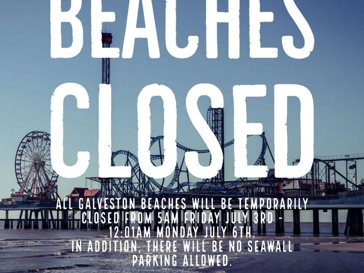La ciudad de Galveston cierra playas para fin de semana de 4 de julio