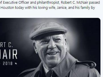 Fundador, CEO de Houston Texans muere