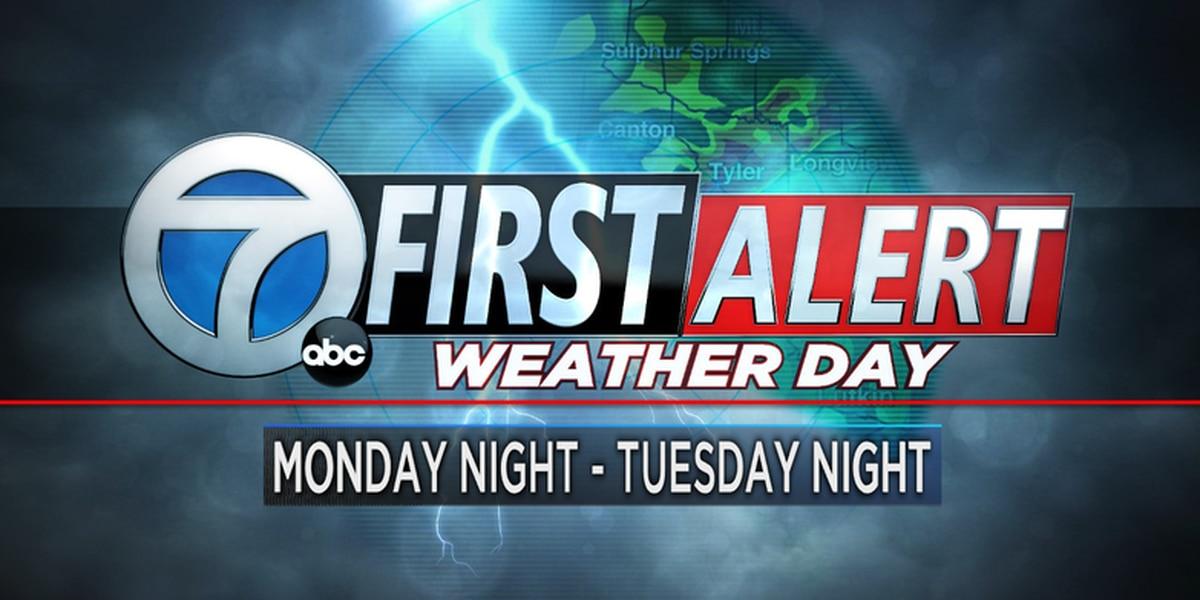 Dia de Primera Alerta Climatica para lunes entrando a martes, posible mezcla invernal