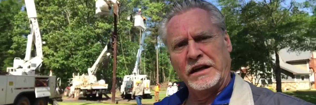 WEBXTRA: Crews continue work to restore power in Upshur County