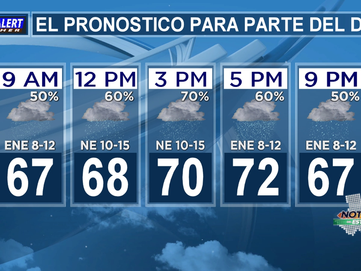 Pronóstico del martes: Espere otro día nublado y lluvioso.
